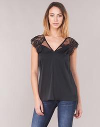 Textiel Dames Tops / Blousjes Guess MARTINA Zwart