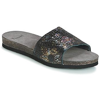 Schoenen Dames Leren slippers Think TANA Zwart