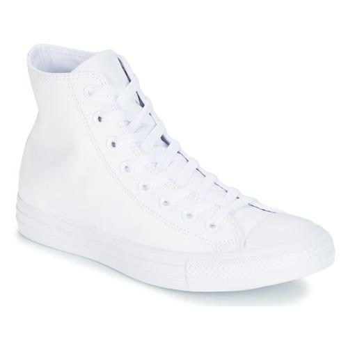 Schoenen Hoge sneakers Converse ALL STAR MONOCHROME CUIR HI Wit