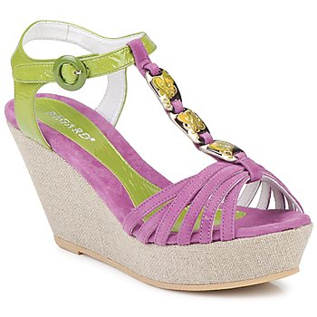 Schoenen Dames Sandalen / Open schoenen Regard RAFAZA Violine / Groen