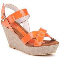 Schoenen Dames Sandalen / Open schoenen Regard RAGA Orange