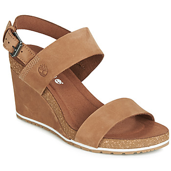 Schoenen Dames Sandalen / Open schoenen Timberland CAPRI SUNSET WEDGE Brown