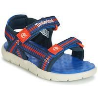Schoenen Kinderen Sandalen / Open schoenen Timberland PERKINS ROW WEBBING SNDL Blauw