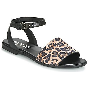 Schoenen Dames Sandalen / Open schoenen Mjus CHAT LEO Zwart / Leopard