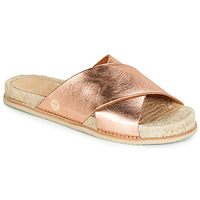 Schoenen Dames Leren slippers Betty London JIKOTI Goud