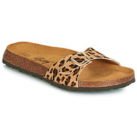 Schoenen Dames Leren slippers Betty London JIKOTI Brown