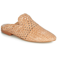 Schoenen Dames Leren slippers Betty London JIKOTEXE  camel