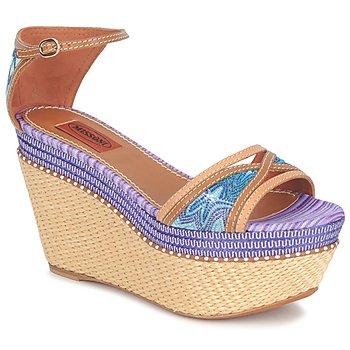 Schoenen Dames Sandalen / Open schoenen Missoni TM26 Blauw / Brown