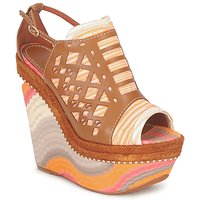 Schoenen Dames Sandalen / Open schoenen Missoni TM22 Brown / Orange