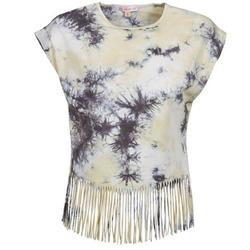 Textiel Dames T-shirts korte mouwen Moony Mood CACILIA Grijs / Geel