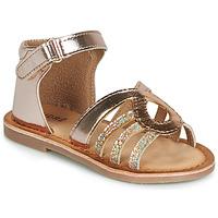 Schoenen Meisjes Sandalen / Open schoenen André LEÏA Goud