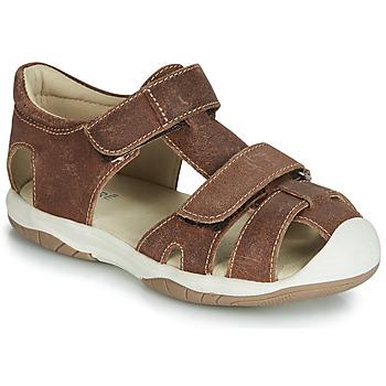 Schoenen Jongens Sandalen / Open schoenen André CHALOUPE Brown