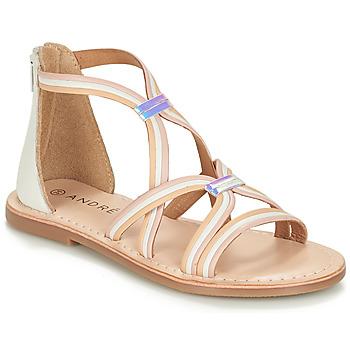 Schoenen Meisjes Sandalen / Open schoenen André MELODIE Wit