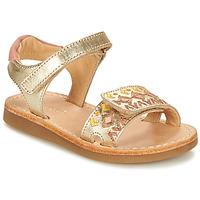 Schoenen Meisjes Sandalen / Open schoenen André ALMERIA Goud
