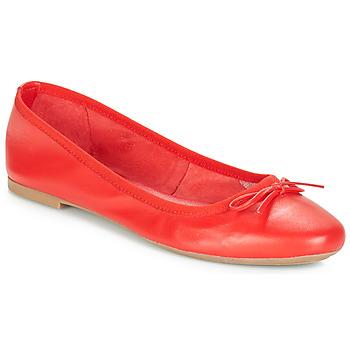 Schoenen Dames Ballerina's André PIETRA Rood