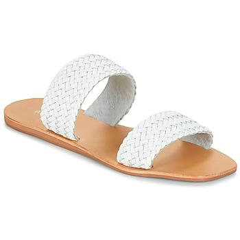 Schoenen Dames Leren slippers André CHUPA Wit