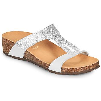 Schoenen Dames Sandalen / Open schoenen André REVERA Argentée / Wit