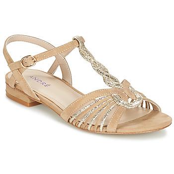 Schoenen Dames Sandalen / Open schoenen André CALLISTO Beige / Goud