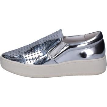 Schoenen Dames Instappers Uma Parker slip on argento pelle BT564 Argento