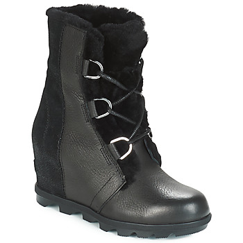 Schoenen Dames Snowboots Sorel JOAN OF ARCTIC WEDGE II LUX Zwart