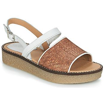 Schoenen Dames Sandalen / Open schoenen Kickers VICTORIETTE Brown / Wit