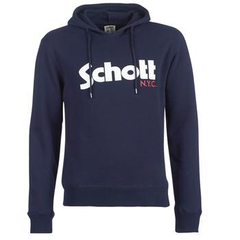 Textiel Heren Sweaters / Sweatshirts Schott HOOD Marine