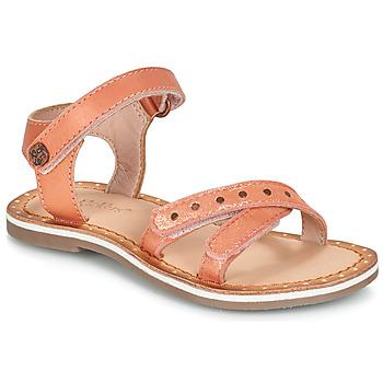 Schoenen Meisjes Sandalen / Open schoenen Kickers DIDONC Roze / Métal