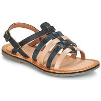 Schoenen Meisjes Sandalen / Open schoenen Kickers DIXON Zwart / Serpent
