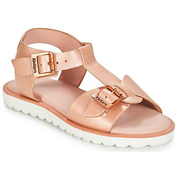 Schoenen Meisjes Sandalen / Open schoenen Kickers ISABELA Roze / Métal