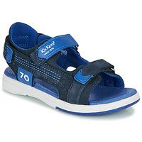 Schoenen Jongens Sandalen / Open schoenen Kickers PLANE Marine