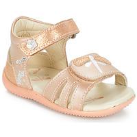 Schoenen Meisjes Sandalen / Open schoenen Kickers BESHINE Roze / Métal