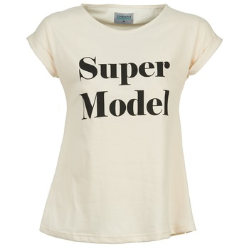 Textiel Dames T-shirts korte mouwen Compania Fantastica HITTU Wit