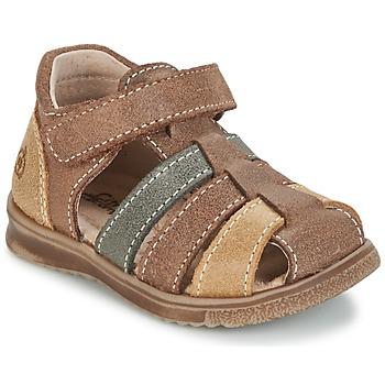 Schoenen Jongens Sandalen / Open schoenen Citrouille et Compagnie FRINOUI Brown / Multicolour
