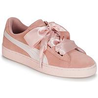 Schoenen Meisjes Lage sneakers Puma JR SUEDE HEART JEWEL.PEACH Roze