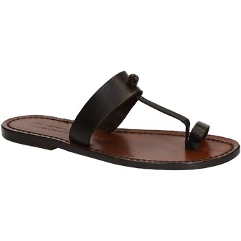 Schoenen Dames Sandalen / Open schoenen Gianluca - L'artigiano Del Cuoio 554 D MORO CUOIO Testa di Moro