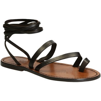 Schoenen Dames Sandalen / Open schoenen Gianluca - L'artigiano Del Cuoio 513 D MORO CUOIO Testa di Moro