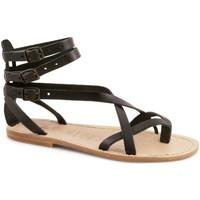 Schoenen Dames Sandalen / Open schoenen Gianluca - L'artigiano Del Cuoio 564 D NERO LGT-CUOIO nero