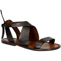 Schoenen Dames Sandalen / Open schoenen Gianluca - L'artigiano Del Cuoio 570 D MORO CUOIO Testa di Moro