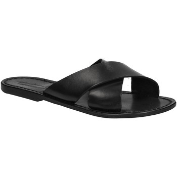 Schoenen Dames Leren slippers Gianluca - L'artigiano Del Cuoio 560 D NERO CUOIO nero