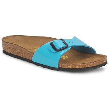 Schoenen Dames Leren slippers Birkenstock MADRID TURQUOISE / VERNI