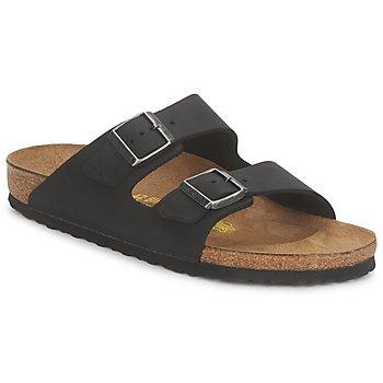 Schoenen Heren Leren slippers Birkenstock ARIZONA PREMIUM Zwart