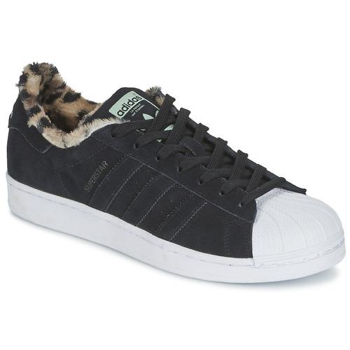 Schoenen Dames Lage sneakers adidas Originals SUPERSTAR W Zwart