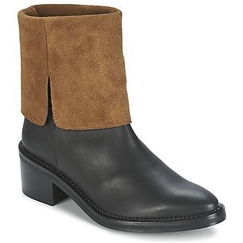 Schoenen Dames Laarzen Miista KAMILA Zwart / Brown