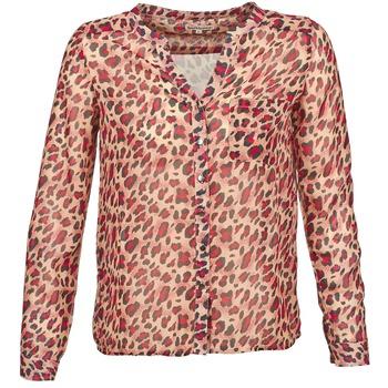 Textiel Dames Overhemden lange mouwen Best Mountain AZARI Beige / Rood
