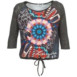 Textiel Dames T-shirts met lange mouwen Smash ANNABEL 42 Grijs / Multikleuren