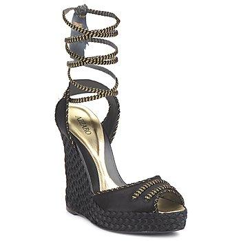 Schoenen Dames Sandalen / Open schoenen Azzaro LUGGANO Zwart