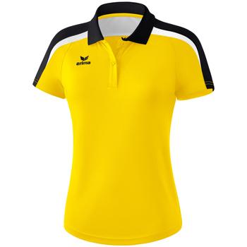 Textiel Dames Polo's korte mouwen Erima Polo femme  Liga 2.0 jaune/noir/blanc