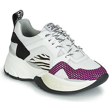 Schoenen Dames Lage sneakers Meline ARGAGALI Wit / Zwart