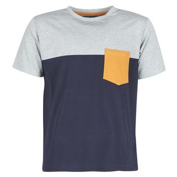 Textiel Heren T-shirts korte mouwen Casual Attitude JERMENE Grijs / Marine