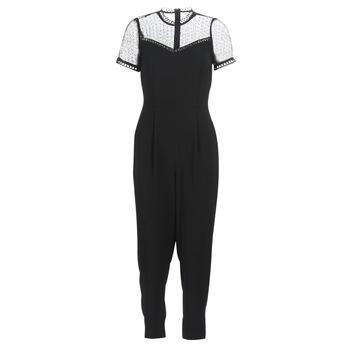 Textiel Dames Jumpsuites / Tuinbroeken MICHAEL Michael Kors LACE YOKE JUMPSUIT Zwart